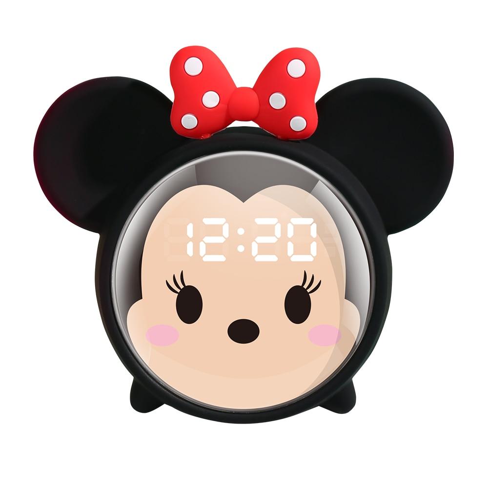 Réveil enfant Minnie Mouse Noir avec noeud